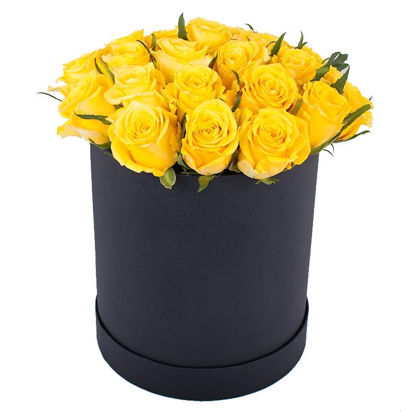 букет из желтых роз фото в коробке таких заведениях